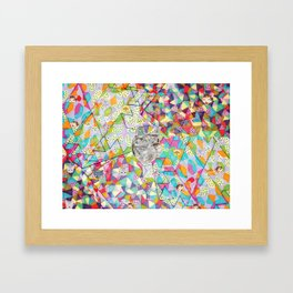 Pattern x Dog  Framed Art Print