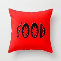 food Throw Pillows featuring Food by gbcimages