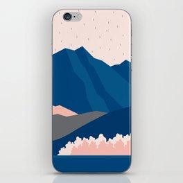 Mt Cook New Zealand Geometric Mountain Art iPhone Skin