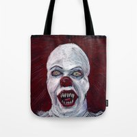 pennywise Tote Bags featuring Pennywise by Eric Dockery