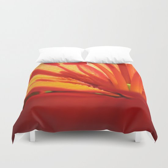 Red Stamen 86 Duvet Cover