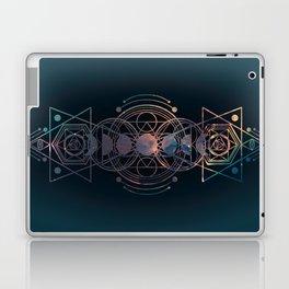 Dark Moon Phase Nebula Totem Laptop & iPad Skin