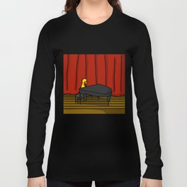 Ducky Pianist | Veronica Nagorny Long Sleeve T-shirt