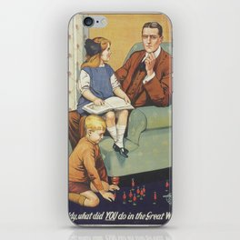 Vintage poster - Daddy, what did you do? iPhone Skin