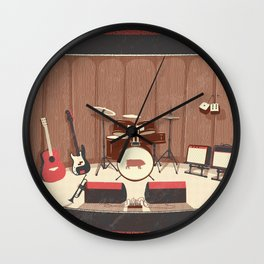 Barrel Rock Wall Clock