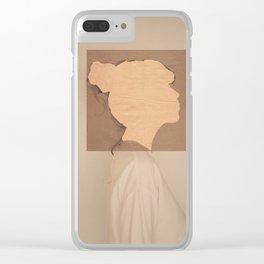 Paper portrait Clear iPhone Case