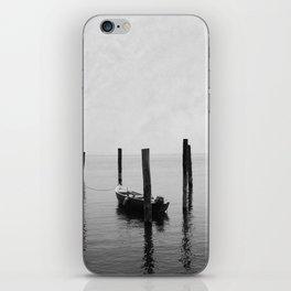 Boat on the lake iPhone Skin