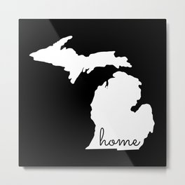 Michigan Home State Map Gifts Metal Print