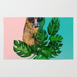 Cute Lemur Watercolor Rug