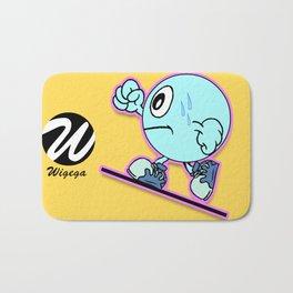 Uphill Runner Cartoon Character Bath Mat