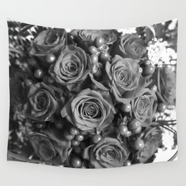 Roses (black and white) Wall Tapestry