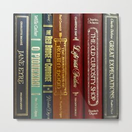 Books 3 Metal Print