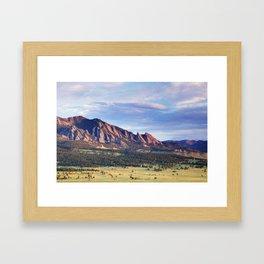 Boulder Colorado Flatirons Framed Art Print