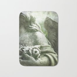 Angelic Cherub Looks Over The Headstones Bath Mat
