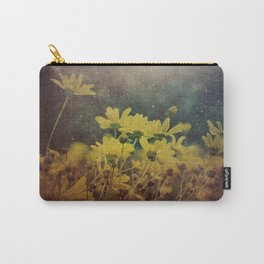 Abstract Yellow Daisies Carry-All Pouch