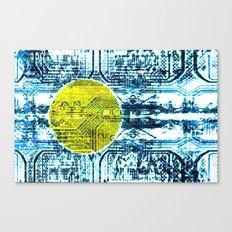 circuit board palau (flag) Canvas Print