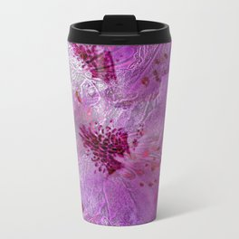Rhododendron Lace Abstract  Travel Mug