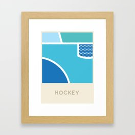Hockey (Sports Surfaces Series, No. 12) Framed Art Print