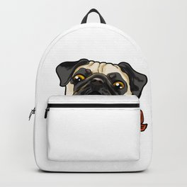 Pug Pugs Dog Doggie Puppy Present Gift Backpack
