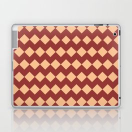 Maroon Peach Moroccan Tile Pattern Laptop & iPad Skin