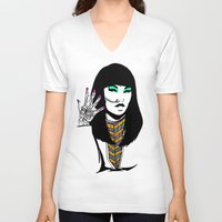 henna V-neck T-shirts featuring Henna by rbengtsson