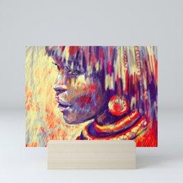 African portrait Mini Art Print