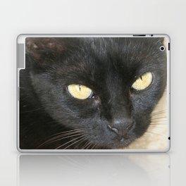 Beautiful Black Cat Portrait  Laptop & iPad Skin