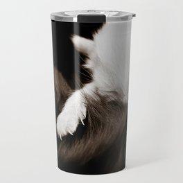 white kitten Travel Mug