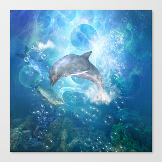 Cute dolphin Canvas Print