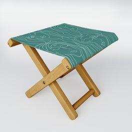 Green Ladies Folding Stool