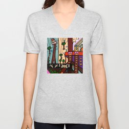 ANOTHER BUSY DAY at the BLUEBIRD EXCAVATION COMPANY Unisex V-Neck