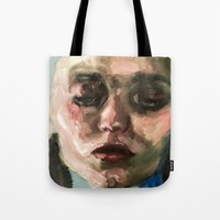 downton abbey Tote Bags featuring Abbey by Ellie Kammer