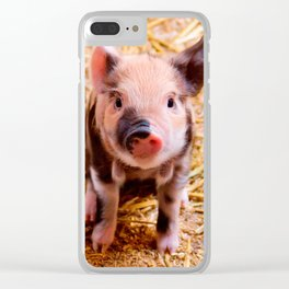Cute Baby Piglet Farm Animals Babies Clear iPhone Case