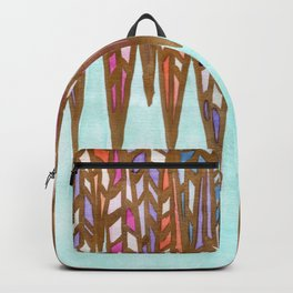 Geometric Feathers Backpack