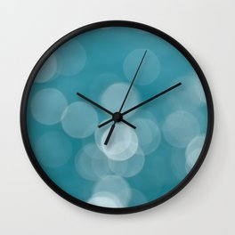 Aqua Bokeh Wall Clock