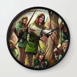 Robin Hood and his Merry Women Wall Clock