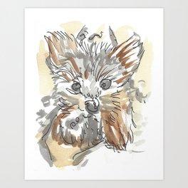 Dog Portrait Series - Bentley Art Print