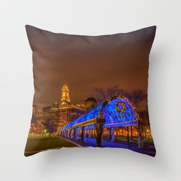 Boston, Christopher Columbus Waterfront Park Throw Pillow