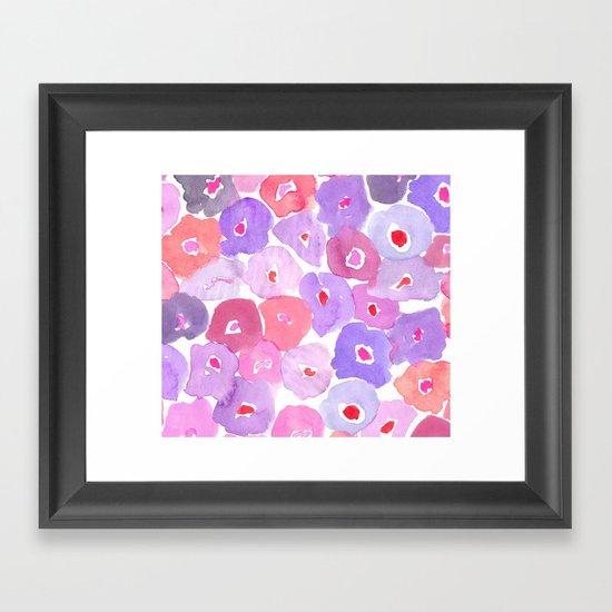 Watercolor Floral Framed Art Print