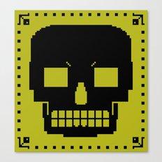 grrr skull. Canvas Print