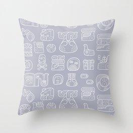 Picto-glyphs Story Throw Pillow