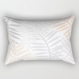 Grey Leaves Rectangular Pillow