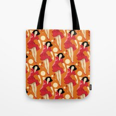 Vintage Girl in Fall Tote Bag