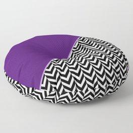 Chevron and Purple Print Floor Pillow