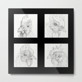Chickens 1 Metal Print