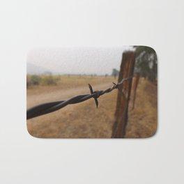Barb Wire Fence Bath Mat