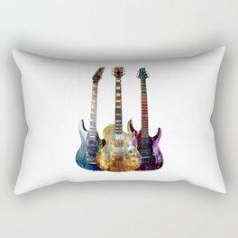 Sounds of music.Three Guitars. Rectangular Pillow