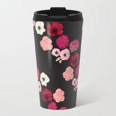 Black & Flowers Travel Mug