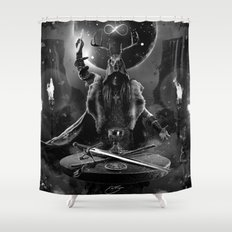I. The Magician Tarot Card Illustration Shower Curtain