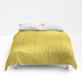 Simply Metallic in Yellow Gold Comforters